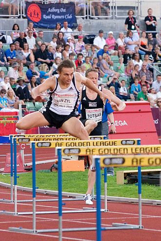 L. J. van Zyl - Van Zyl at the 2008 Bislett Games.