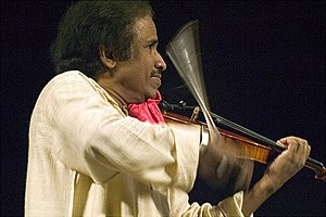 L. Subramaniam - Subramaniam performing at a concert