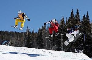 Kevin Hill (snowboarder) - Kevin Hill, Nick Baumgartner, Pierre Vaultier, Fabio Caduff. Telluride, December 19, 2009