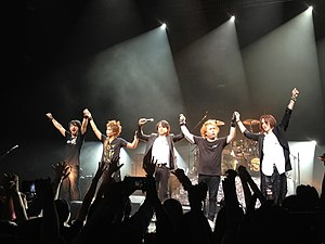 Luna Sea - Luna Sea in 2013. From left to right:  J, Inoran, Ryuichi, Shinya, Sugizo