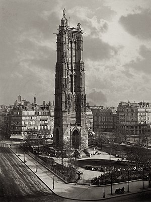 4th arrondissement of Paris - Saint-Jacques Tower circa 1867