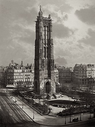 La Tour St. Jacques La Boucherie a Paris by Charles Soulier, 1867 La Tour St. Jacques La Boucherie a Paris ca. 1867.jpg