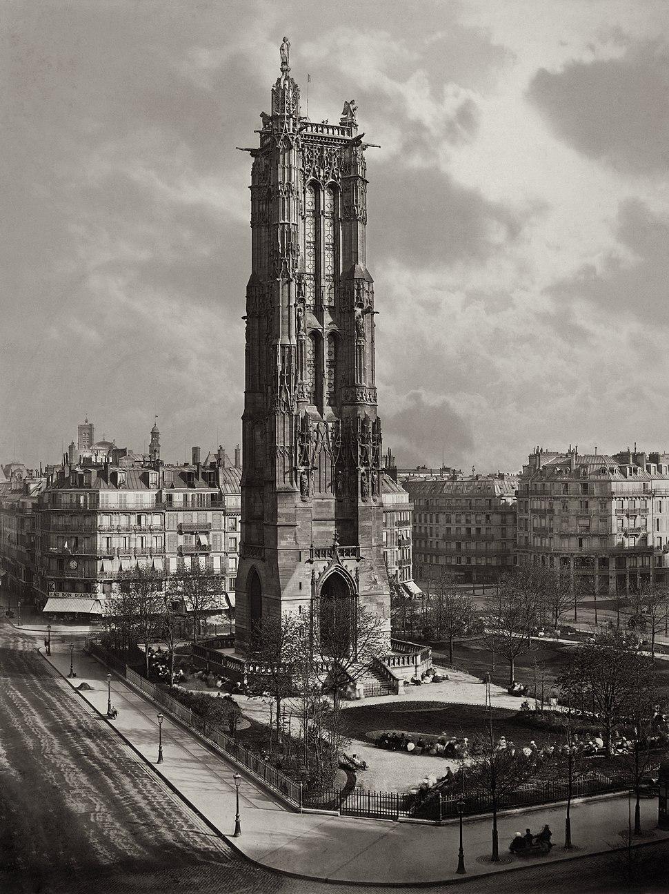 La Tour St. Jacques La Boucherie %C3%A0 Paris ca. 1867