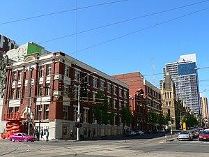 La Trobe Street, Melbourne - Image: La Trobe Street looking east from Swanston Street
