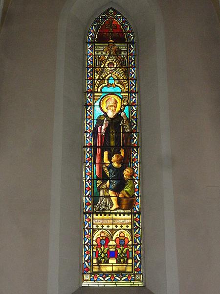 Labenne (Landes) église Saint Nicolas, vitrail 05