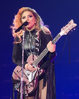 Lady Gaga - Gaga performing on the Joanne World Tour in 2017