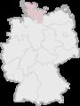 Lage der kreisfreien Stadt Flensburg in Deutschland.png