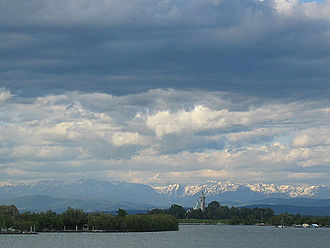 Friuli - Lagoon of Marano, Alps in the background