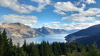 Lake Wakatipu - Lake Wakatipu from Queenstown Hill