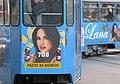 Lana Jurčević na tramvaju.jpg