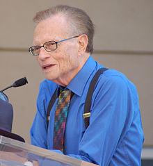 Wikipedia: Larry King at Wikipedia: 220px-LarryKingSept10