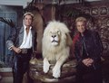 Las Vegas, Nevada's headlining illusionists Siegfried & Roy (Siegried Fischbacher and Roy Horn) in their private apartment at the Mirage Hotel on the Vegas Strip, along with one of their LCCN2011634017.tif