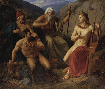 The musical duel of Pan and Apollo, by Laurits Tuxen Laurits Regner Tuxen The-Musical-Dual-Of-Pan-And-Apollo.jpg