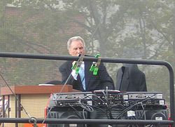Lee Corso on the set of College GameDay at Virginia Tech on September 24, 2005