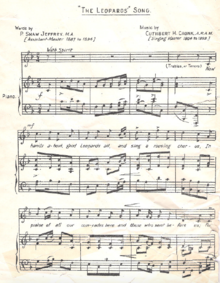 Leopards Song Sheet Music.png