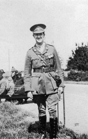Leslie Andrew - Captain Les Andrew VC at Bell Block in New Zealand, 1927.