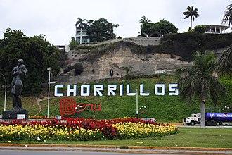Chorrillos District - Image: Letrero del Distrito de Chorillos