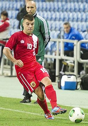 Liam Walker - Walker playing for Gibraltar in 2013.