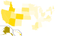 Libertarian Party presidential election results, 1976 (United States of America).png
