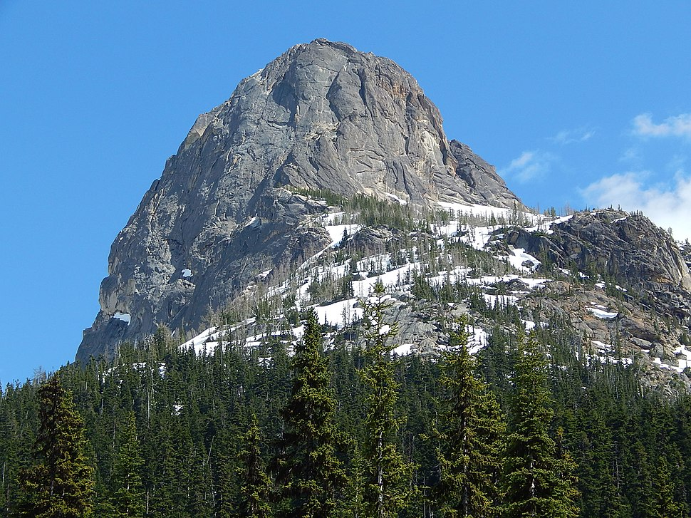 Liberty Bell Mountain seen from Highway 20