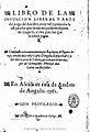 Libro de la inuencion liberal y arte del juego del Axedrez 1561 López de Segura tp.jpg
