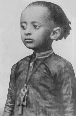 Haile Selassie - Lij Tafari Makonnen at age 3