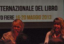Luciana Littizzetto e la scrittrice Maria Carla Fruttero, figlia di Carlo, al Salone Internazionale del Libro di Torino 2013