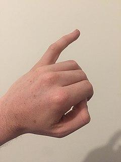 Little finger smallest finger of the human hand