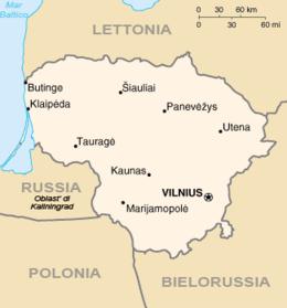 Lituania - Mappa