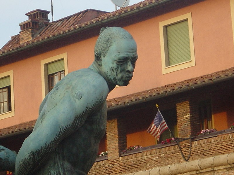 IMAGES DE L'ESCLAVAGE ET DE LA TRAITE NEGRIERE 800px-Livorno%2C_Monumento_dei_quattro_mori_a_Ferdinando_II_%281626%29_-_Foto_Giovanni_Dall%27Orto%2C_13-4-2006_02