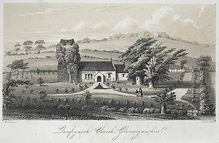 Llanfrynach church, Glamorganshire