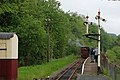 Llangower station, with train arriving - geograph.org.uk - 1326558.jpg