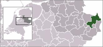 Denekamp - Image: Locatie Dinkelland