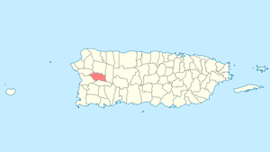 Location of Las Marías in Puerto Rico