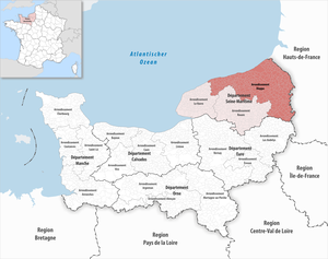 Locator map of Arrondissement Dieppe 2018.png