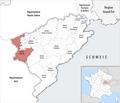 Locator map of Kanton Saint-Vit 2019.png
