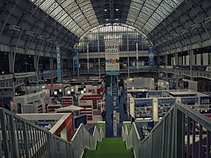 London Book Fair - The London Book Fair 2016. Few minutes before opening. Olympia, London UK