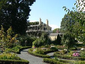 Martha Brookes Hutcheson - A portion of garden at Longfellow House–Washington's Headquarters National Historic Site, Cambridge, Massachusetts