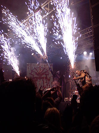 Lordi - Lordi performing live with pyrotechnics