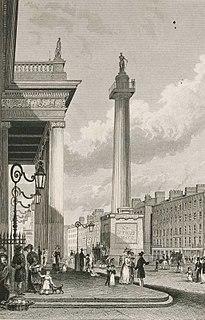 Former column and statue in Dublin, Ireland