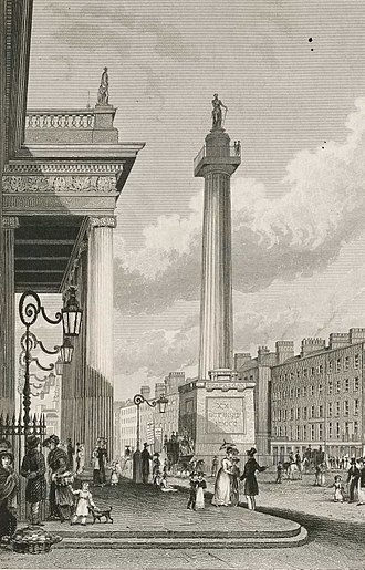 Nelson's Pillar - Image: Lossy page 1 2658px Nelson's Pillar, Sackville Street, Dublin RMG PU3914 (cropped)