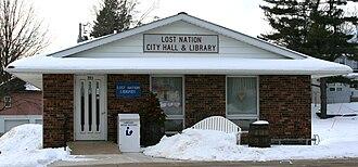 Lost Nation, Iowa - Image: Lost Nation Iowa 20090125 City Hall Library