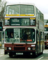 Lothian Buses bus 833 Leyland Olympian Alexander RH G833 GSX Madder and White livery April 2006.jpg