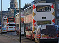 Lothian Buses buses on Melville Street, Edinburgh, March 2007.jpg