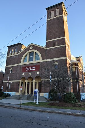 Grace Universalist Church - Image: Lowell MA St George Hellenic Orthodox Church