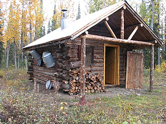 National Register of Historic Places listings in Denali Borough, Alaska - Image: Lower East Fork Patrol Cabin