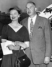 Loy and Howland H. Sargeant returning from a UNESCO conference soon after their marriage in 1951
