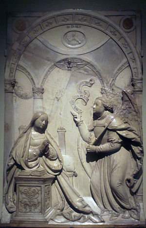 Loy Hering - Annunciation, 1545. In the collection of the Taft Museum of Art