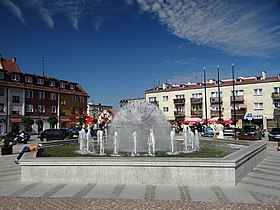 Central square, with fountain
