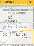 Lufthansa - boarding pass LH 583 Cairo-Frankfurt 2008-07-26.jpg